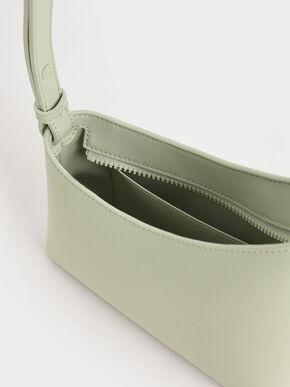 Asymmetrical Shoulder Bag, Mint Green, hi-res