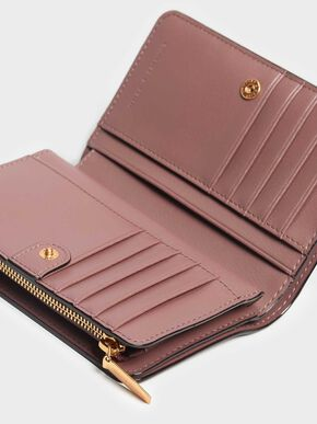 Classic Zipped Wallet, Mauve, hi-res