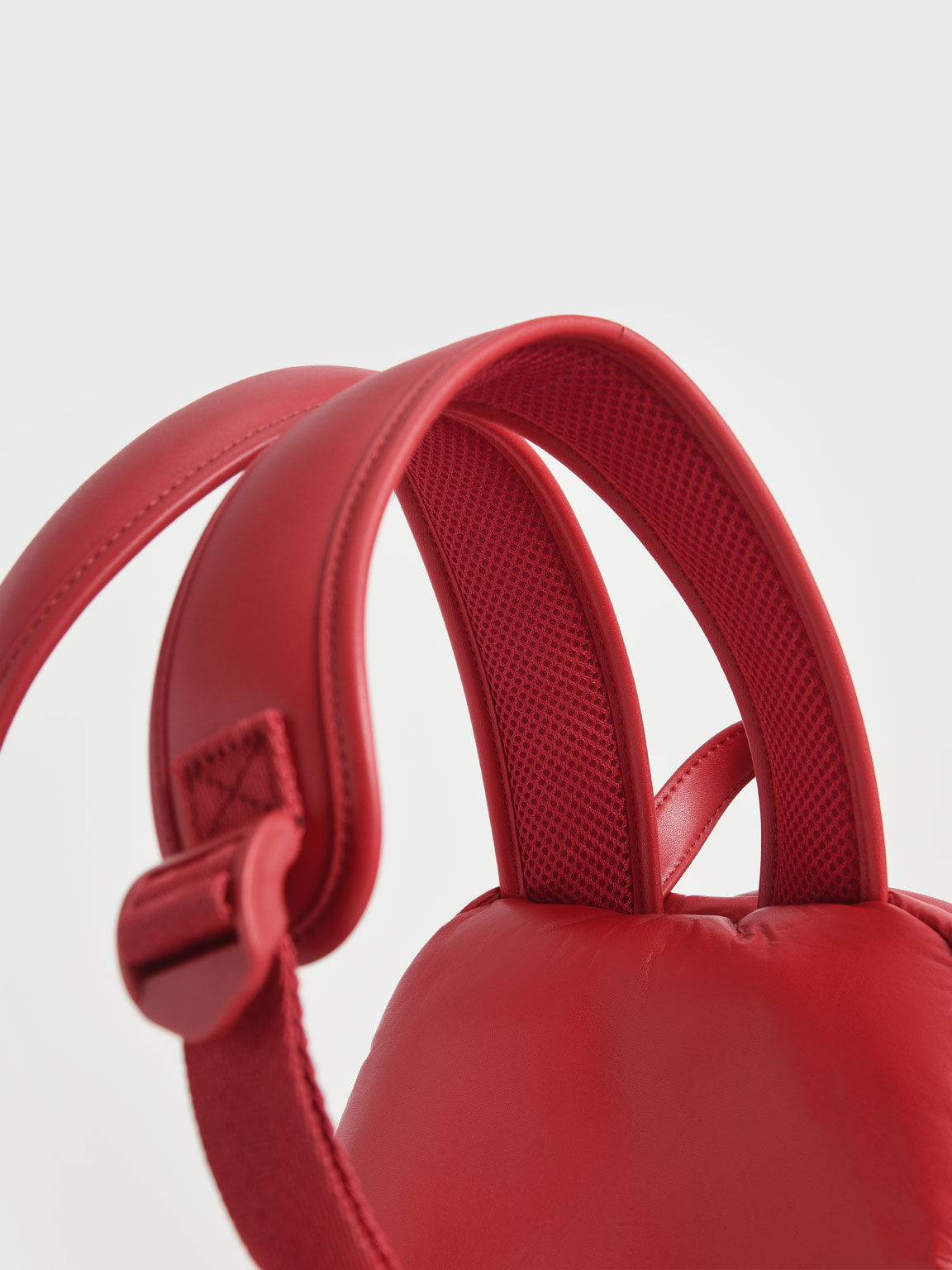 Large Puffy Backpack, Red, hi-res