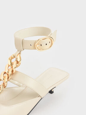 Chain Link Ankle Strap Pumps, Chalk, hi-res