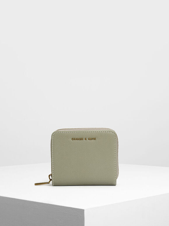 Classic Zip Mini Wallet, Sage Green, hi-res