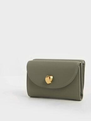 Mini Front Flap Wallet, Sage Green, hi-res
