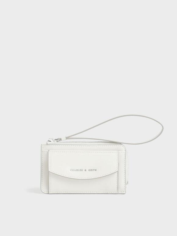 Wristlet Card Holder, White, hi-res