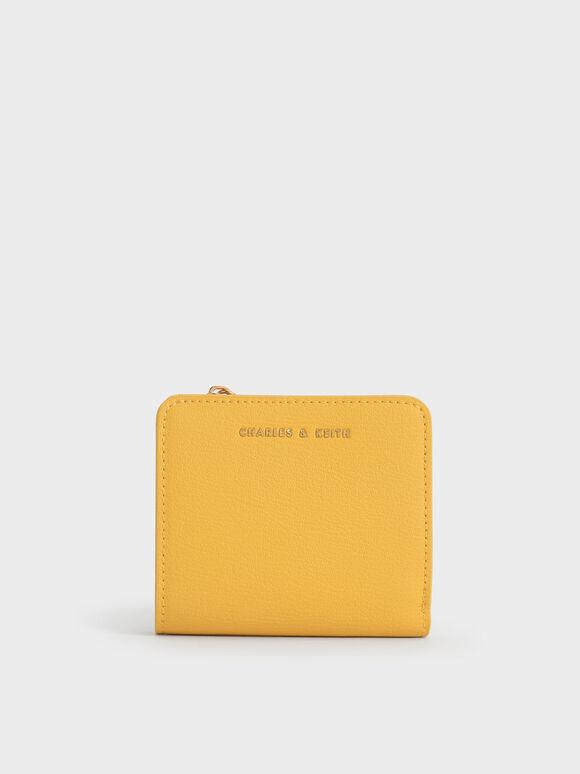 Zip Around Card Holder, Yellow, hi-res