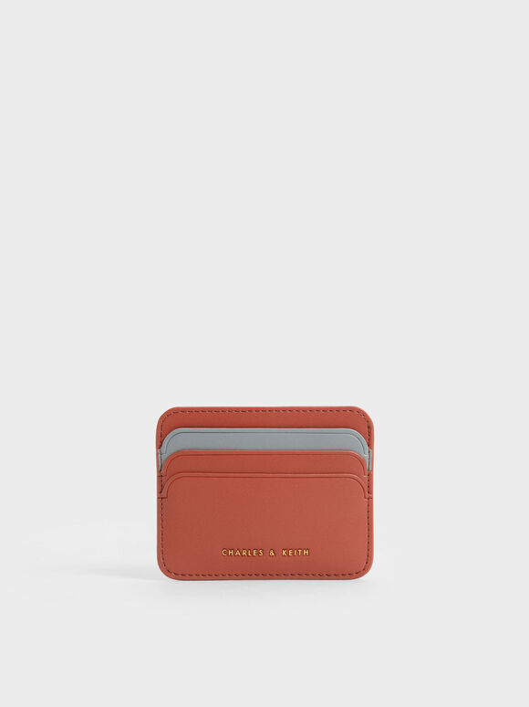 Two-Tone Multi Slot Card Holder, Brick, hi-res
