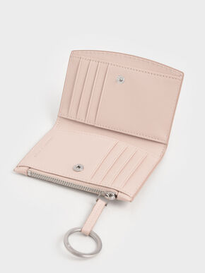 Ring Detail Card Holder, Light Pink, hi-res