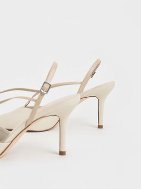 Strappy Crossover Slingback Pumps, Chalk, hi-res