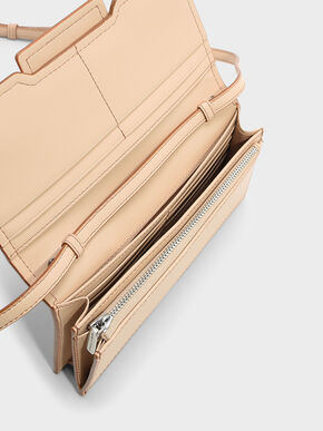Front Flap Wallet, Beige, hi-res
