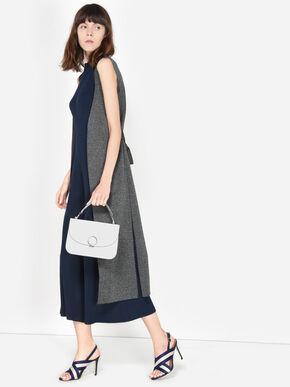 Ring Detail Handbag, White, hi-res