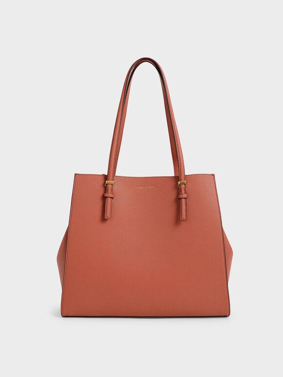 Large Double Handle Tote Bag, Brick, hi-res