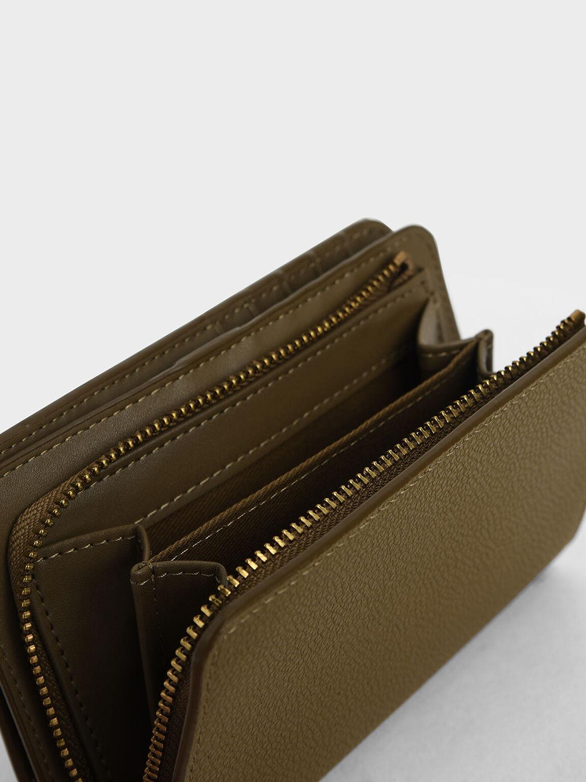 Classic Zip-Around Wallet, Khaki, hi-res