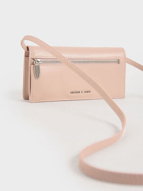 Woven Long Wallet, Pink, hi-res