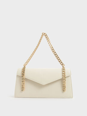 Envelope Chain Handle Bag, Chalk, hi-res