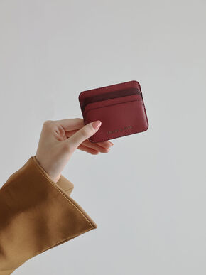 Two-Tone Multi-Slot Card Holder, Rose, hi-res