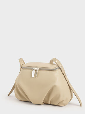 Two-Way Zip Dome Bag, Sand, hi-res