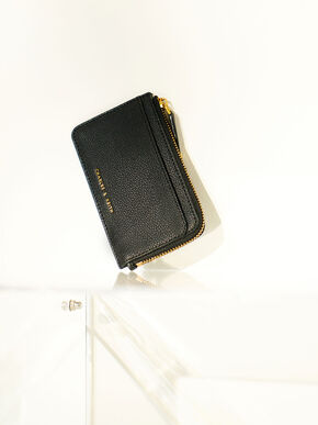 Zip Card Holder, Black, hi-res