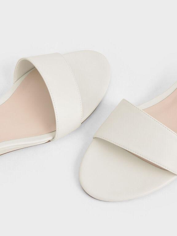 Asymmetric Wedge Sandals, Chalk, hi-res