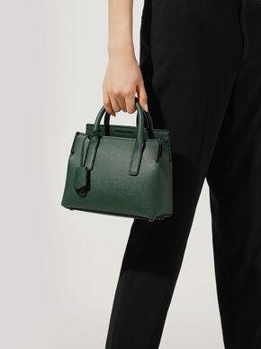 Double Handle Tote Bag, Green, hi-res
