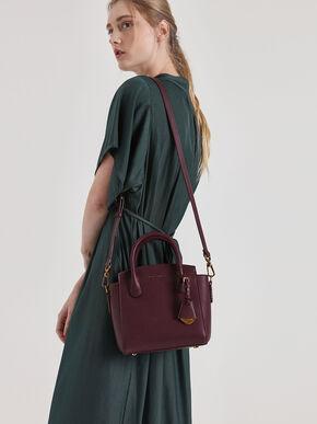 Classic Double Top Handle Bag, Prune, hi-res