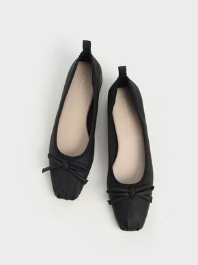 Bow Ballerinas, Black, hi-res