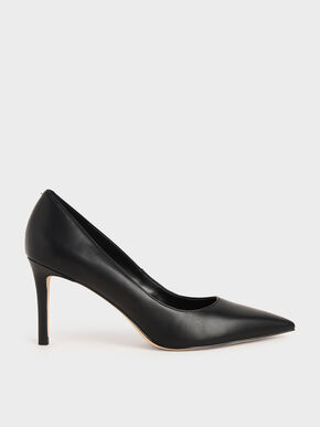 Classic Stiletto Heel Pumps, Black, hi-res