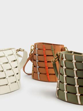 Knot Detail Bag, Cream, hi-res