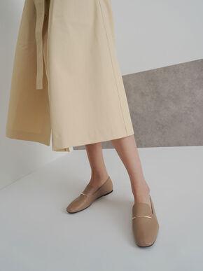 Embellished Loafers, Taupe, hi-res