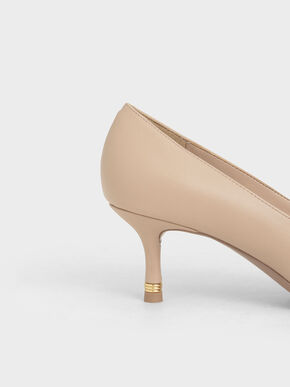 Metallic Accent Pumps, Nude, hi-res
