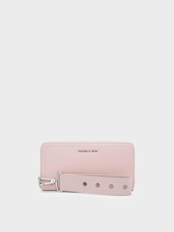 Wristlet Wallet, Blush, hi-res