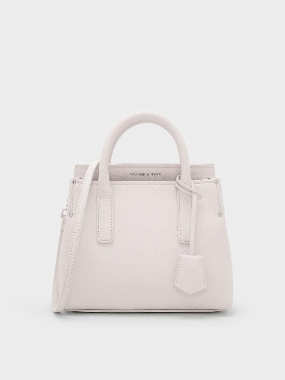 Classic Top Handle Bag, Light Pink, hi-res