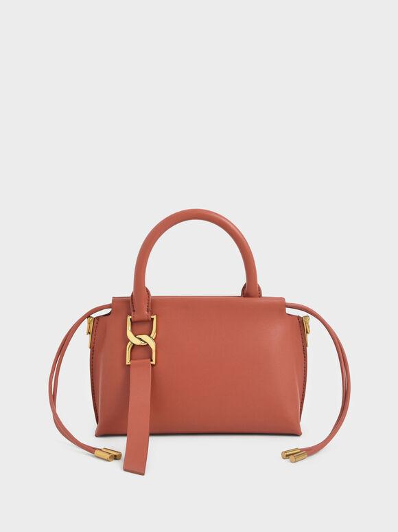Fringe Detail Crossbody Bag, Brick, hi-res