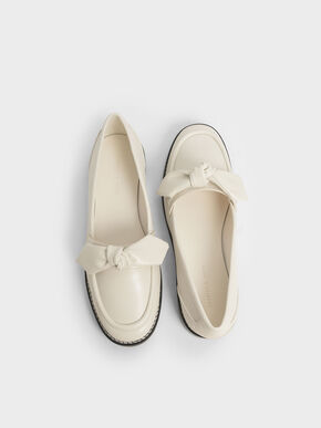 Bow Loafers, Cream, hi-res
