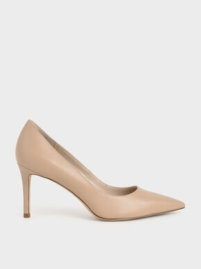 Classic Stiletto Heel Pumps, Nude, hi-res