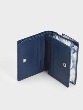 Metallic Accent Snap Button Card Holder, Multi, hi-res