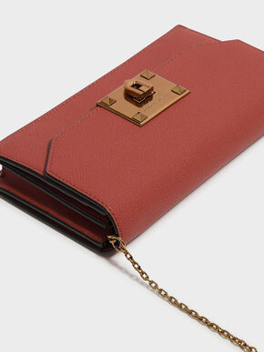 Classic Push-Lock Wallet, Brick, hi-res