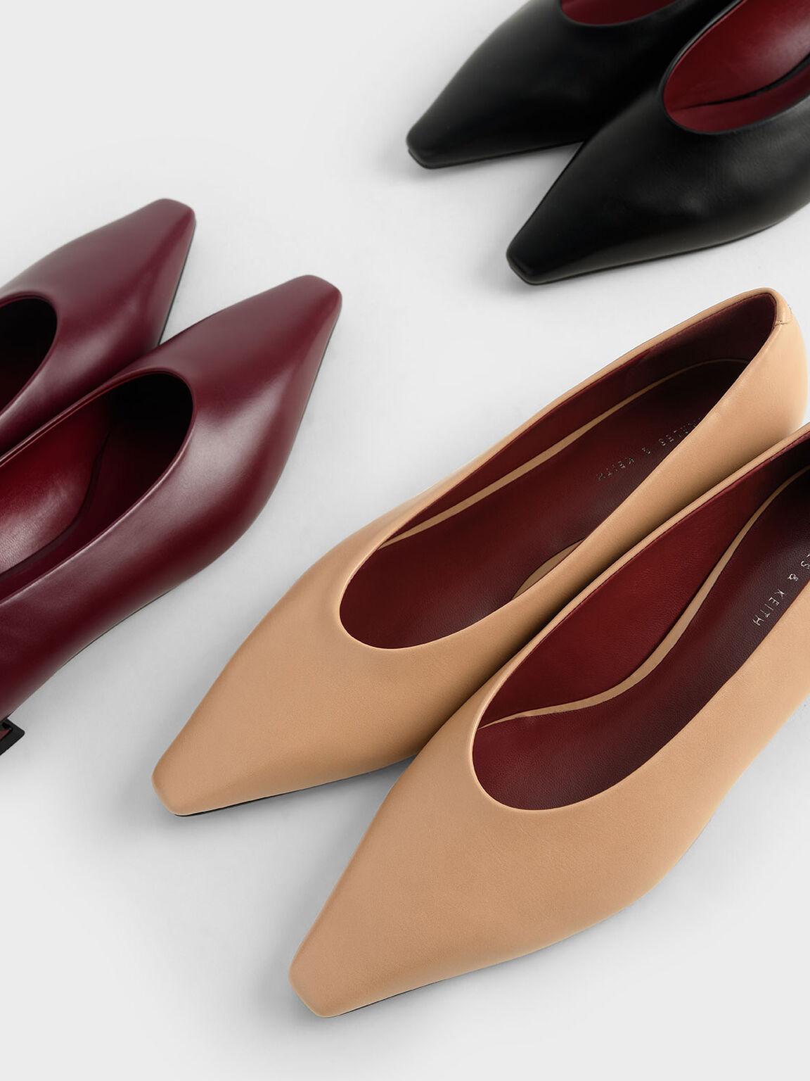 Classic Ballerina Flats, Black, hi-res
