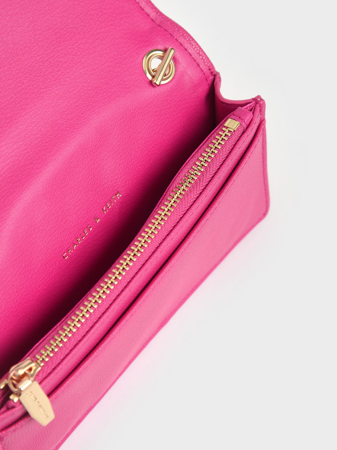 Quilted Pouch, Fuchsia, hi-res