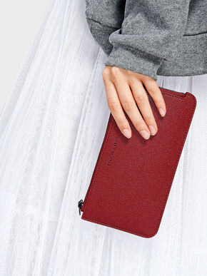 Zip Wallet, Red, hi-res