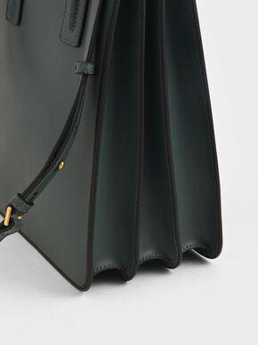 Double Handle Tote Bag, Teal, hi-res