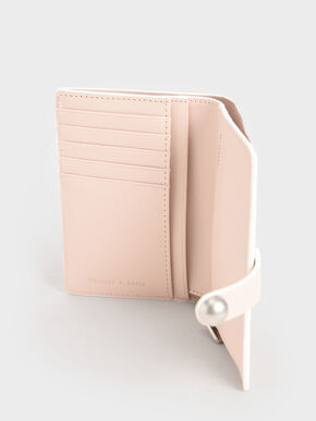 Mini Snap Button Wallet, Light Pink, hi-res