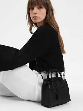 Classic Top Handle Bag, Black, hi-res