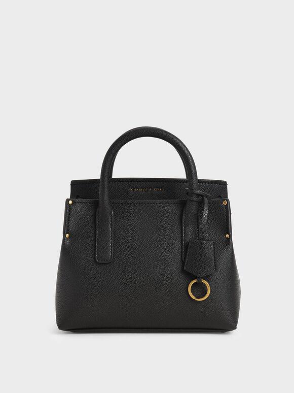 Double Handle Tote Bag, Black, hi-res