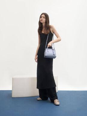 Double Handle Tote Bag, Light Blue, hi-res