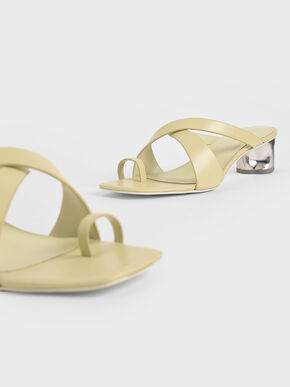 Toe Loop Criss-Cross Sandals, Yellow, hi-res