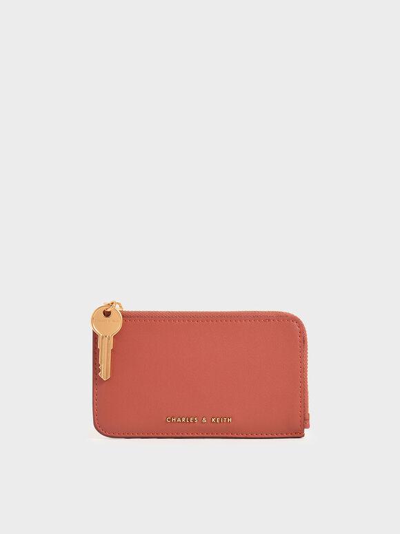 Zip Around Mini Wallet, Clay, hi-res