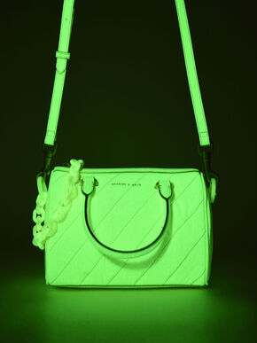 Patent Panelled Tote Bag, Butter, hi-res