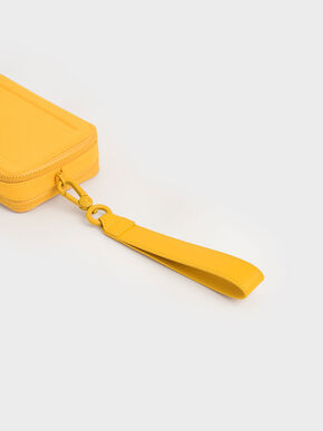 Grosgrain Stitch Trim Crossbody Bag, Yellow, hi-res