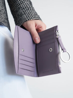 Ring Detail Card Holder, Lilac, hi-res