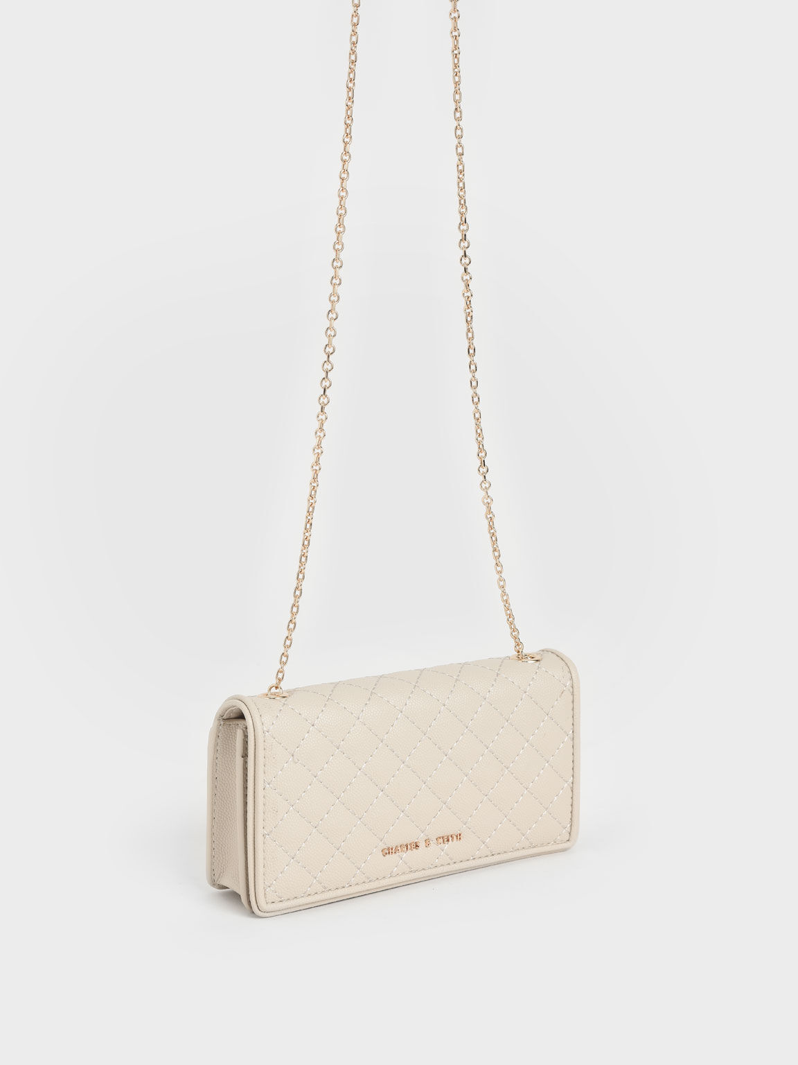 Quilted Pouch, Cream, hi-res