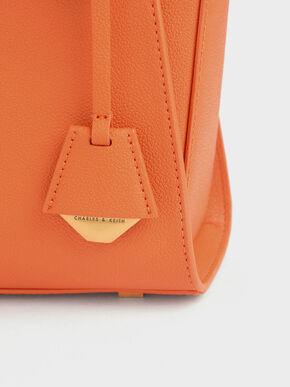 Structured Trapeze Bag, Orange, hi-res